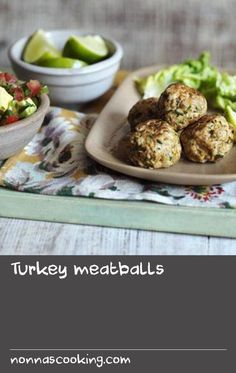 Turkey meatballs |      Try this healthier twist on a classic family recipe. Turkey is traditionally leaner than chicken and using mince made with thigh meat helps to keep these meatballs really moist. Turkey Meat Recipes, Ground Meat Recipes, Mince Recipes, Yummy Chicken Recipes, Meatball Recipes, Yum Yum Chicken, Meal Recipes, Yummy Food, Healthy Recipes