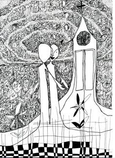 lucas repetto — desenho em papel A4 — nanquim
