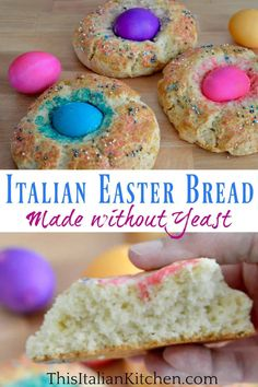 Italian Easter Bread recipe without yeast is going to be your new favorite way to make Easter Bread. This quick and easy Italian Easter tradition takes minutes to make and is full so delicious. #italianeasterbread #easterbread Easter Bread Recipe, Easter Recipes, Holiday Recipes, Christmas Recipes, Thanksgiving Recipes, Easter Dinner, Easter Brunch, Holiday Dinner, Delicious Desserts