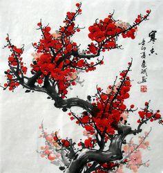 Chinese Painting: Plum Blossom - Chinese Painting CNAG233364 ...