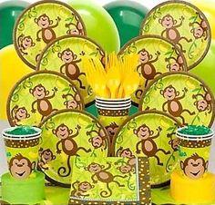 Monkey In Around Birthday Party Supplies Small Beverage Napkins