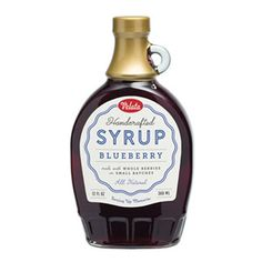 Velata Handcrafted Blueberry Syrup is made with whole berries in small batches. This all natural syrup is great for breakfast and dessert.Suggested UseTry on waffles, scones, cheesecake, yogurt and fruit salad, or stir into lemonade and other refreshments.IngredientsCorn syrup, blueberries, pure cane sugar, lemon juice, natural flavor.