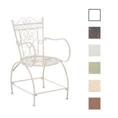 Gartenstuhl SHEELA Stuhl Sitz Eisen NEU Terrassenstuhl Shabby Chic Biergarten