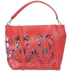 Marina Galanti Handbag (89 AUD) ❤ liked on Polyvore featuring bags, handbags, shoulder bags, maroon, purse shoulder bag, hand bags, shoulder handbags, red hobo purse and hobo shoulder bags