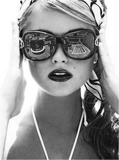 black and white, women, photography, fashion, glasses