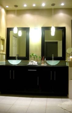 these are the sinks I am thinking of getting. frosted glass sinks. Maybe oval mirrors tho.