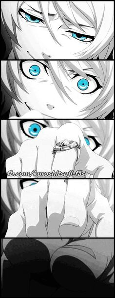 Alois trancy, do not look at the him, you will lose your eye