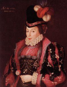1573 Elizabeth Littleton, Lady Willoughby by George Gower (Wollaton Hall - Wollaton, Nottingham, Nottinghamshire UK) | Grand Ladies | gogm