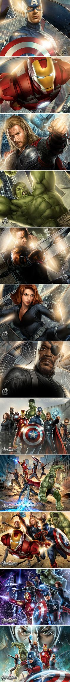 Movie posters (Still wish Black Widow was facing the action, rather than looking a bit lost!!)