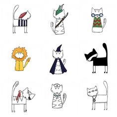 Cat Characters by Beth Wilson