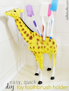There are those moments when you need to do something ridiculous for no other reason than because it makes you smile. I hope you have those moments-- I hope that you act on them. I did. As a result of my impulsiveness, I now have a giraffe toothbrush holder. A toy giraffe toothbrush holder.