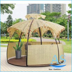 China outdoor garden rattan round Pavilion / Gazebos / Canopies/ tent ST10 images - astrade