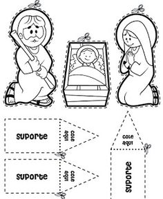 60 Atividades Bíblicas Infantil para Montar, Colorir e Imprimir - Online Cursos Gratuitos Nativity Clipart, Nativity Crafts, Christmas Nativity, Kids Christmas, Christmas Crafts, Christmas Activities, Christmas Printables, Christmas Projects, King Craft