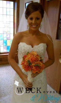 corals and oranges bridal bouquet #bouquet