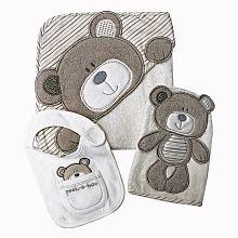 Babies R US - Capa de Banho, Luva e Babete Ursinho - $17.12
