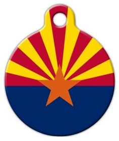 Arizona Flag - Custom Pet ID Tag for Dogs and Cats - Dog Tag Art * Wow! : Dog tags for pets Arizona Flag, Arizona Cardinals, Dog Tags Pet, Personalized Dog Tags, Flag Design, Cat Collars, Tag Art, Dog Care, Your Pet