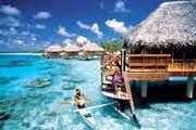 Want to stay in a hut over the ocean in Fiji or Tahiti