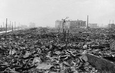 A picture of Hiroshima after the atomic bomb hit on August 6 1945. Approximately 70 000 Japanase died instantly.