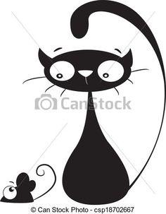 Wektor - sylwetka, kot, mysz - zbiory ilustracji, ilustracje royalty free, zbiory ikon klipart, zbiór ikon klipart, logo, sztuka, obrazy EPS, obrazki, grafika, grafik, rysunki, rysunek, obrazy wektorowe, projekt graficzny, EPS wektor graficzny