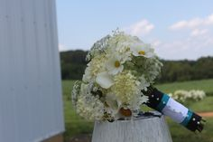 Local All white Bouquet of seasonal flowers