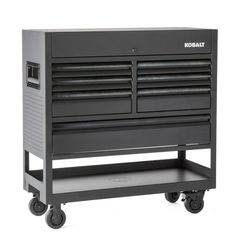 199 60 At Lowe S Over 19 000 Cu Kobalt 3000 45 In W X 47 In H 7 Drawer Steel Rolling Tool Cabinet Black Tool Cabinet Panel Siding Tool Steel
