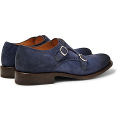 Irish brand <a href='http://www.mrporter.com/mens/Designers/OKeeffe'>O'Keeffe</a> believes you should face the world with confidence - each pair of its shoes is inscribed with a motto from the clan's coat of arms: 'Forti et Fideli Nihil Difficile', or 'To the brave and faithful, nothing is difficult'. These 'Bristol' brogues have been handcrafted in Italy from storm-blue washed-suede and are finished with G...