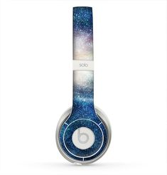 The Blue & Gold Glowing Star-Wave Skin for the Beats by Dre Solo 2 Headphones