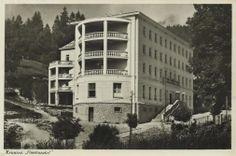 """Świdzińskiego 19 (Sanatorium """"Continental""""), Krynica-Zdrój - 1960 rok, stare zdjęcia"""