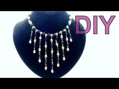 Бижутерия своими руками: колье из бусин с подвесками. DIY beads necklace, - YouTube