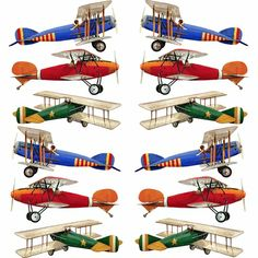 Small Planes Wall Stickers