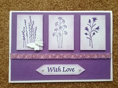 Birthday Card- Stampin Up Pocket Silhouettes with Embosslits butterfly. Could be used for sympathy card too.