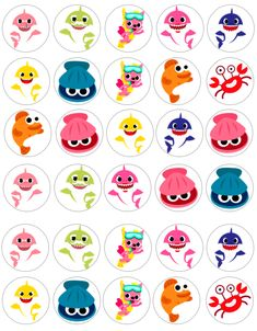 Baby Hai Cupcake Toppers Baby Hai Essbares Bild Baby Hai Party 2 - Baby shark party - Welcome Baby Baby Cupcake Toppers, Oh Baby Cake Topper, Cupcake Cakes, Shark Cupcakes, Pink Cupcakes, Baby Hai, Shark Party Decorations, Shark Birthday Cakes, Baby Shark Doo Doo