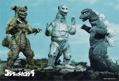 King Caesar, Mechagodzilla, Godzilla