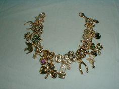 Kirks follia fortuna fascino bracciale buona fortuna bracciale oro verde rosa aurora borealis cristallo bracciale buona fortuna fascino vintage braccialetto di fascino