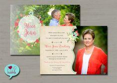 Memorial Funeral Confirmation Wedding Bridal Program by lovebabble