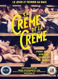 """Kallistos - Affiche Soirée """"La Crème de la Crème"""" Kedge Business School - Marseille, février 2014."""