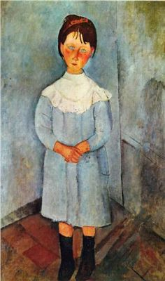 Amadeo Modigliani / Little Girl in Blue