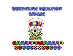 Solving Quadratic Equations by Factoring Bingo