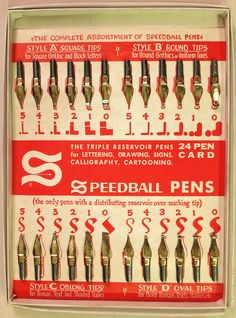 Speedball 24 Pen Card via karen horton                                                                                                                                                                                 More