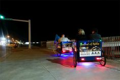 "Moody Garden Campaign ""Festival of Lights"" fun rides in Galveston, TX"