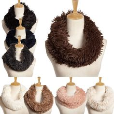 Fashion Accessories Womens SCARF RING Fur Scarf Round Collar Shawl Wrap Stole Scarf Women Winter Neckerchief  #outfit #makeup #jennifiers #beauty #purse #outfitoftheday #hair #jewelry #model #fashion #cute #style #styles #beautiful #stylish