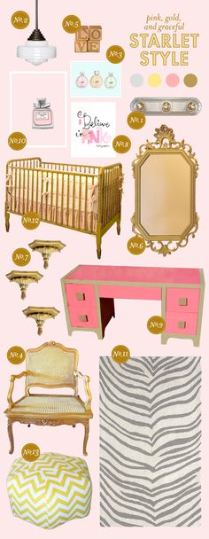 Starlet style- amazing! The pink and gold really are beautiful together.