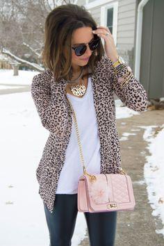 Cardigan - Classic Leopard Print Cardigan #JessLeaBoutqiue