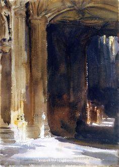 John Singer Sargent, Cathedral Interior on ArtStack #john-singer-sargent #art