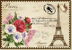 my design/Vintage Post Card/Paris