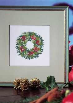 Christmas wreath, from Anchor/Coats.