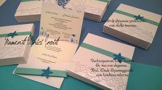 Partecipazione invito tema mare, stella marina, onde - tiffany e verde acqua - sea wedding invitation Stella, Tiffany, Boarding Pass, Cards Against Humanity, Travel, Viajes, Destinations, Traveling, Trips