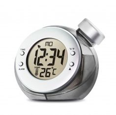 Water Powered LCD Alarm Clock.  No battery needed! It just drinks water.