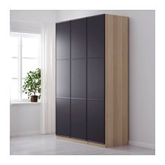pax kleiderschrank eicheneff wlas mer ker grau schlafzimmer pinterest kleiderschrank. Black Bedroom Furniture Sets. Home Design Ideas