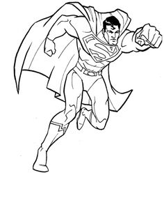 The New Adventures of Superman Coloring Page Trace Pinterest